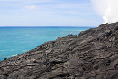 Pahoehoe lava landscape Royalty Free Stock Photo