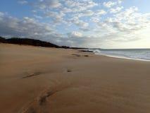 Pahohaku strand på skymning Royaltyfria Bilder