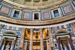 Pahtheon в Риме, Италии стоковое фото rf
