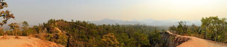 Pai峡谷自然保护,夜丰颂,泰国 图库摄影