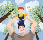 Pai & filho Fotos de Stock