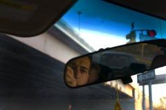 Pai & filho no carro Fotografia de Stock