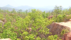 Pai Canyon en collines de Shan, Thaïlande banque de vidéos