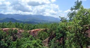 Pai Canyon i Thailand Fotografering för Bildbyråer