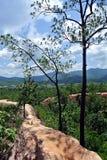 Pai Canyon i Thailand Royaltyfria Foton