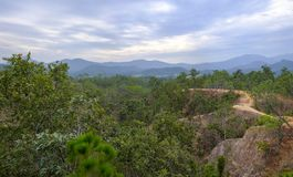 Pai Canyon in Thailand. A panorama photo of the Pai Canyon near Pai, Thaiůand Stock Images