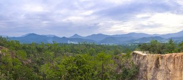 Pai Canyon in Thailand. A panorama photo of the Pai Canyon near Pai, Thaiůand Royalty Free Stock Image