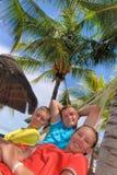 Pai com adolescentes fotos de stock royalty free