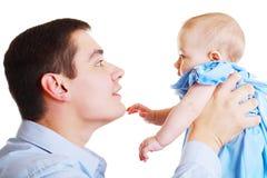 Pai com bebê Foto de Stock
