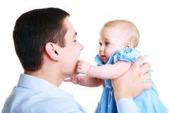 Pai com bebê Imagem de Stock