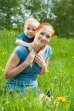 Pai com criança Imagens de Stock
