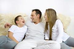 Pai com crianças Fotografia de Stock Royalty Free