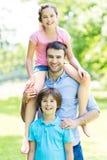 Pai com duas crianças Fotos de Stock
