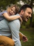 Pai com filha Fotografia de Stock