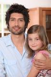 Pai com filha fotos de stock royalty free