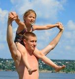 Pai com filha Fotografia de Stock Royalty Free