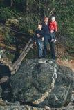 Pai com filha e filho Fotos de Stock