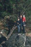 Pai com filha e filho Imagem de Stock Royalty Free