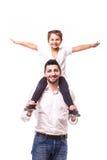 Pai com filha feliz Imagem de Stock