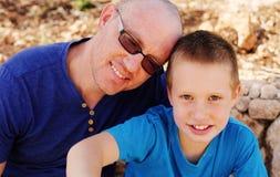 Pai com filho fotografia de stock