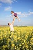 Pai com menina do litle Imagens de Stock