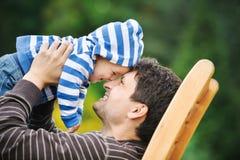 Pai com seu filho fotos de stock