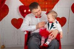 Pai com sua filha Imagem de Stock