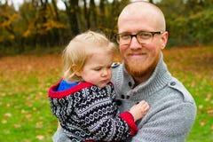 Pai Daughter Lifestyle Portrait Fotografia de Stock Royalty Free