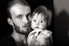 Pai do retrato com filho Imagens de Stock