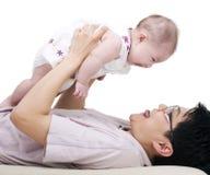 Pai e bebé fotografia de stock royalty free