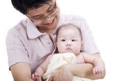 Pai e bebé imagem de stock
