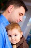 Pai e bebé foto de stock