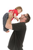 Pai e bebé Fotografia de Stock
