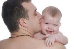 Pai e bebê Imagem de Stock