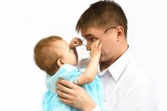 Pai e bebê Fotografia de Stock