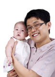 Pai e bebê felizes imagem de stock royalty free