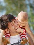 Pai e bebê-menino Imagens de Stock