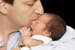 Pai e bebê recém-nascido Foto de Stock