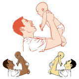 Pai e bebê Foto de Stock Royalty Free