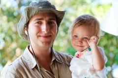 Pai e filha Imagem de Stock