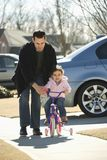 Pai e filha. Fotos de Stock