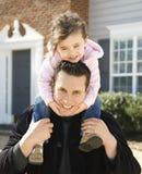 Pai e filha. Foto de Stock Royalty Free