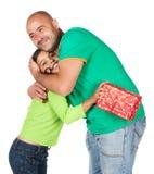 Pai e filha Imagem de Stock Royalty Free