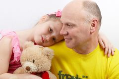 Pai e filha Foto de Stock Royalty Free