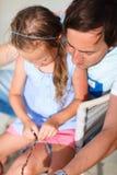 Pai e filha Fotografia de Stock