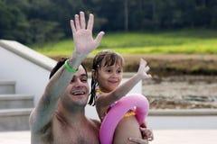 Pai e filha Foto de Stock
