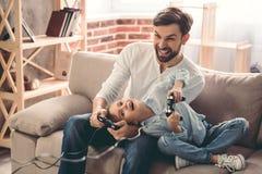 Pai e filha fotografia de stock royalty free