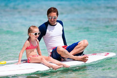 Pai e filha em férias Imagem de Stock Royalty Free