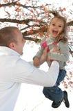 Pai e filha felizes imagens de stock royalty free