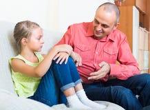 Pai e filha frustrante Imagens de Stock